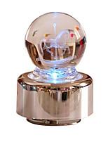 Music Box Round Cartoon Toughened Glass