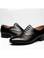 Для мужчин Латина Натуральная кожа Оксфорды Для открытой площадки На толстом каблуке Черный 2,5 - 4,5 см