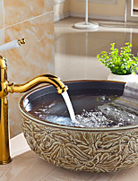 Moderne Montage Soupape céramique Mitigeur un trou for  Ti-PVD , Robinet lavabo