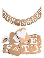 Papel de Cartão Decorações do casamento-1 Peça Casamento Aniversário