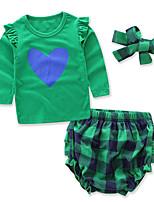 Girls' Print Geometric Sets,Cotton Polyester Spring Fall Long Sleeve Clothing Set