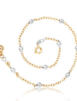 Жен. Ножной браслет/Браслеты Позолоченное розовым золотом Мода По заказу покупателя Круглой формы Шарообразные Бижутерия Назначение