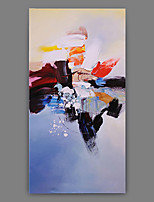 Hand-Painted Abstract Vertical Panoramic,Artistic Abstract Cool One Panel Canvas Oil Painting For Home Decoration