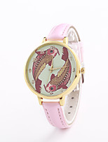 Women's Fashion Watch Wrist watch Quartz Leather Band Casual Black White Blue Silver Red Brown Gold Pink Rose
