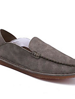 Men's Loafers & Slip-Ons Comfort Spring Fall Nubuck leather Casual Brown Gray Beige Under 1in