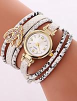Mulheres Relógio de Moda Bracele Relógio Quartzo PU Banda Legal Casual Preta Branco Azul