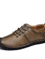 Men's Shoes Real Leather Cowhide Nappa Leather Fall Winter Driving Shoes Formal Shoes Comfort Oxfords Lace-up For Casual Office & Career