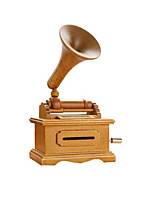 Music Box Square Phonograph Wooden
