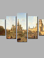 Castle Painting For Modern House Wall Art Decoration Posters Printed on Canvas Landscape Pictures Livingroom  Background Deco