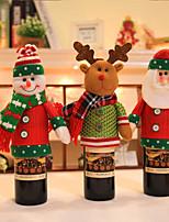 2pc Joyeux Noël, bonhomme de neige, couple, chaise, couvertures, décoration de noel, décoration, Noël, dîner, décor, chaise, coffre