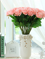 10 Ramo Seda Rosas Flores artificiais
