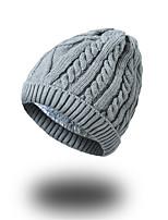 Unisex Acrylic Beanie/Slouchy Floppy Hat,Hat Pattern Headwear Casual Chic & Modern Casual/Daily Keep Warm Knitwear Solid Fall Winter Pure