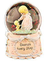 Music Box Round Cartoon Crystal