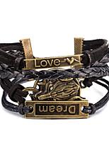 Муж. Wrap Браслеты Кожаные браслеты Браслет Бижутерия Панк Регулируется Готика Кожа Сплав В форме животных Бижутерия Бижутерия Назначение