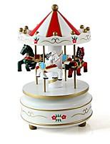 Music Box Carousel Plastics Wooden