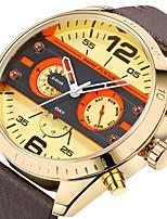 Men's Sport Watch Fashion Watch Wrist watch Unique Creative Watch Casual Watch Japanese Quartz Calendar Genuine Leather Band Charm Unique