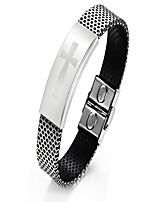 Муж. Мальчики Браслет цельное кольцо Браслет разомкнутое кольцо Бижутерия Мода Простой стиль Титановая сталь Круглой формы Бижутерия