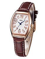 Жен. Модные часы Кварцевый Натуральная кожа Группа Коричневый