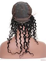 pre arrancó el frontal de 360 cordones con el casquillo caliente de la peluca del pelo virginal malasio caliente de la peluca onda