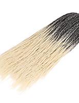 Спиральные плетенки Косы Косы в технике Кроше 100% волосы канекалона 100% волосы канеколон Черный / Темно-рыжий Черный / Бургундия Черный