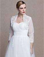 Women's Wrap Shrugs Lace Tulle Wedding Party/ Evening Applique Lace