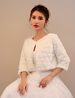 Women's Wrap Shrugs Faux Fur Wedding Party/ Evening Pattern / Print Polka Dot