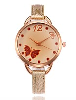 Mujer Reloj de Moda Reloj de Pulsera Reloj creativo único Chino Cuarzo PU Banda Encanto Casual Negro Blanco Azul Rojo Marrón Dorado Rosa