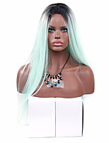 Women Synthetic Wig Capless Long Straight Green Lolita Wig Party Wig Halloween Wig Carnival Wig Cosplay Wigs Natural Wig Costume Wig