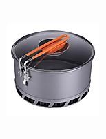 Pot Single Hard Alumina for Picnic Camping & Hiking BBQ