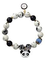 Homens Mulheres Pulseiras Strand Jóias Animal Chrismas Liga Forma Geométrica Panda Jóias Para Formal Bandagem
