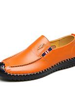 Для мужчин Мокасины и Свитер Удобная обувь Мокасины Обувь для дайвинга Осень Зима Натуральная кожа Кожа Свадьба Повседневные Для