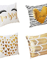 4 pcs Velvet Natural/Organic Polyester Pillow Case Pillow Cover,Textured Heart Shaped Traditional/Classic Beach Style Modern/Contemporary