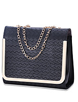 Women Bags All Seasons PU Shoulder Bag with for Casual Office & Career White Black Blushing Pink Light Green