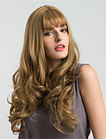 Women Synthetic Wig Capless Long Very Long Wavy Medium Auburn African American Wig For Black Women With Bangs Natural Wigs Costume Wigss