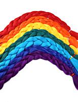 Крупные косы Косы Косы в технике Кроше 100% волосы канекалона 100% волосы канеколон Зеленый Желтый Медь Коричневый Средний коричневый