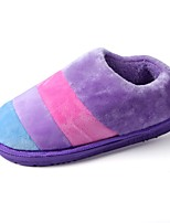 Damen Slippers & Flip-Flops Komfort Flaum Futter Winter Pelz Normal Flacher Absatz Purpur Rosa Flach