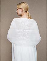 Etoles de Femme Châles Mousseline de soie Mariage Fête/Soirée Applique