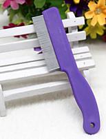 Dog Grooming Health Care Comb Foldable Purple