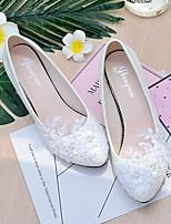 Femme Chaussures de mariage A Bride Arrière Printemps Automne Dentelle Similicuir Mariage Habillé Soirée & Evénement Applique Imitation