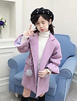 Girls' Solid Jacket & Coat,Cotton Rayon Fall Winter Long Sleeve