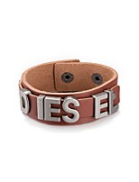 Men's Leather Bracelet Bracelet Jewelry Friendship Rock Gothic Open PU Alloy Jewelry For Casual Stage Street Office & Career