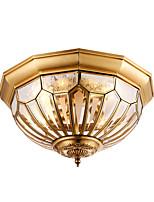 European-Style Copper Lamp Bedroom Lamp Living Room Lamp Idyllic Lamp Round American Light Bulb Creative Balcony Lamp Corridor Lamp