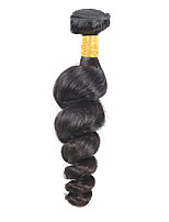 Натуральные волосы Малазийские волосы Человека ткет Волосы Свободные волны Наращивание волос 1 шт. Черный