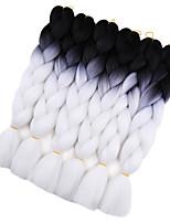 Крупные косы Косы Косы в технике Кроше Коса с омбре 100% волосы канеколон Черный Красный Черный / синий Черный / Фиолетовый Черный /