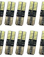 10pcs 12w 1000lm t10 puede-autobús libre de error luces llevadas 3 colores selectivos
