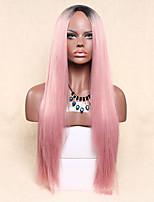 жен. Парики из искусственных волос Без шапочки-основы Длиный Прямые Розовый Парики для косплей Парик из натуральных волос Парик Лолита