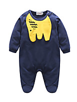 Baby Patchwork One-Pieces,100%Cotton Autumn/Fall Long Sleeve