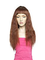 Mujer Pelucas sintéticas Sin Tapa Largo Marino Marrón Corte a capas Peluca natural Peluca de fiesta Peluca de celebridades Peluca de
