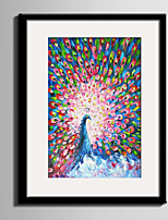E-HOME® Framed Canvas Art Beautiful Colored Peacock Framed Canvas Print One Pcs