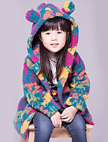 Girls' Camouflage Down & Cotton Padded,Polyester Fall Winter Long Sleeve